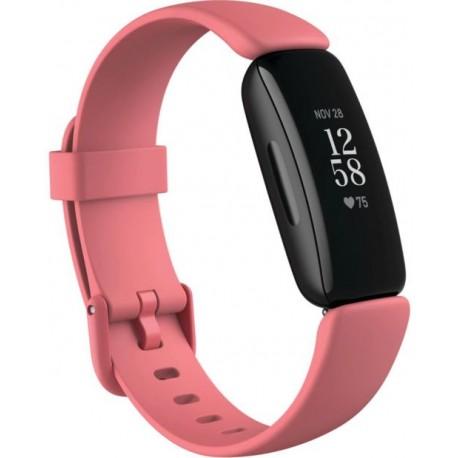 Bratara fitness Fitbit Inspire 2, Bluetooth, rezistent la apa, Roz/Negru