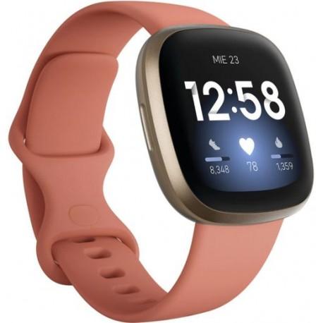 Ceas activity tracker Fitbit Versa 3, NFC, WiFi, Bluetooth, Roz