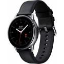 Smartwatch Samsung Galaxy Watch Active 2 SM-R825, Procesor Dual-Core 1.15GHz, Super AMOLED 1.4inch, 1.5GB RAM, 4GB Flash, Bluetooth, Wi-Fi, 4G, Carcasa Otel, Bratara Piele 44mm, Rezistent la apa si praf, Tizen (Argintiu/Negru)