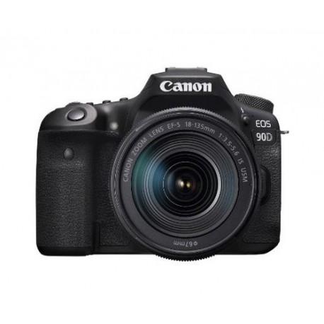 Aparat Foto DSLR Canon EOS 90D, 32.5MP, UHD 4K30p, Autofocus, Wi-Fi, Bluetooth + Obiectiv 18-135mm IS STM