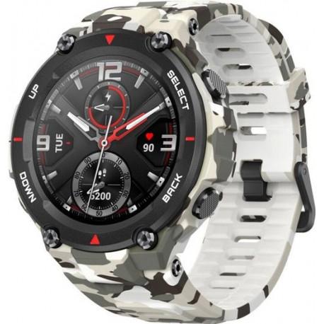 Smartwatch Huami Amazfit T-REX, Display AMOLED 1.3inch, Bluetooth, GPS, Android/iOS, Alb/Negru