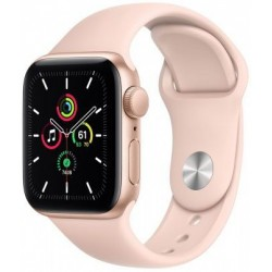Smartwatch Apple Watch SE, Retina LTPO OLED Capacitive touchscreen 1.57inch, Bluetooth, Wi-Fi, Bratara Silicon 40mm, Carcasa Aluminiu, Rezistent la apa (Roz)