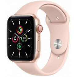 Smartwatch Apple Watch SE Cellular, Retina LTPO OLED Capacitive touchscreen 1.57inch, Bluetooth, Wi-Fi, 4G, Bratara Silicon 40mm, Carcasa Aluminiu, Rezistent la apa (Roz)