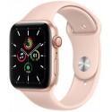 Smartwatch Apple Watch SE Cellular, Retina LTPO OLED Capacitive touchscreen 1.57inch, Bluetooth, Wi-Fi, 4G, Bratara Silicon 40mm, Carcasa Aluminiu, Rezistent la apa (Roz)