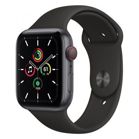 Smartwatch Apple Watch SE Cellular, Retina LTPO OLED Capacitive touchscreen 1.57inch, Negru