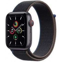 Smartwatch Apple Watch SE Cellular, Retina LTPO OLED Capacitive touchscreen 1.78inch, Bluetooth, Wi-Fi, 4G, Bratara Sport Loop 44mm, Carcasa Aluminiu, Rezistent la apa (Negru)