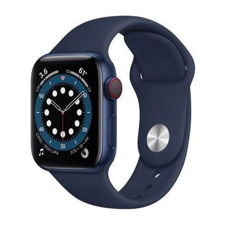 Smartwatch Apple Watch S6 Cellular, Retina LTPO OLED Capacitive touchscreen 1.57inch, Albastru inchis