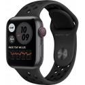 Smartwatch Apple Watch SE Nike Cellular, Retina LTPO OLED Capacitive touchscreen 1.57inch, Bluetooth, Wi-Fi, 4G, Bratara Silicon 40mm, Carcasa Aluminiu, Rezistent la apa (Negru)