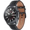 Smartwatch Samsung Galaxy Watch 3 SM-R840, Procesor Dual-Core 1.15GHz, Super AMOLED 1.4inch, 1GB RAM, 8GB Flash, Bluetooth, Wi-Fi, Carcasa Aluminiu, Bratara Cauciuc 45mm, Rezistent la apa si praf, Tizen (Gri)