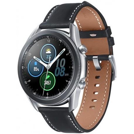 Smartwatch Samsung Galaxy Watch 3 SM-R850, 1GB RAM, 8GB Flash, Bluetooth, Wi-Fi, Rezistent la apa si praf, Tizen, Argintiu
