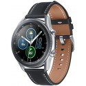 Smartwatch Samsung Galaxy Watch 3 SM-R840, Procesor Dual-Core 1.15GHz, Super AMOLED 1.4inch, 1GB RAM, 8GB Flash, Bluetooth, Wi-Fi, Carcasa Aluminiu, Bratara Cauciuc 45mm, Rezistent la apa si praf, Tizen (Argintiu)