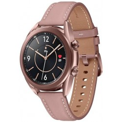 Smartwatch Samsung Galaxy Watch 3 SM-R850, 1GB RAM, 8GB Flash, Bluetooth, Wi-Fi, Rezistent la apa si praf, Tizen, Auriu