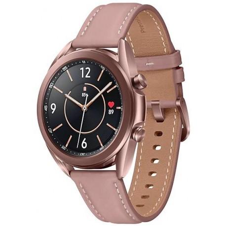 Smartwatch Samsung Galaxy Watch 3 SM-R850, 1GB RAM, 8GB Flash, Bluetooth, Wi-Fi, Rezistent la apa si praf, Tizen, Auriu