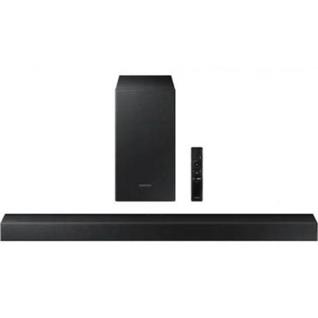 Soundbar Samsung HW-T430, 2.1 Canale, 170W, Subwoofer Wireless, Bluetooth (Negru)