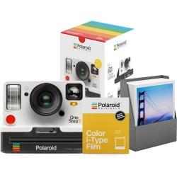 Aparat Foto Compact Instant Polaroid OneStep 2 White Summer Box, baterie 1100mAh, Blitz integrat (Alb)
