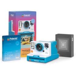 Aparat Foto Compact Instant Polaroid OneStep 2 Blue Summer Box, baterie 1100mAh, Blitz integrat (Albastru)