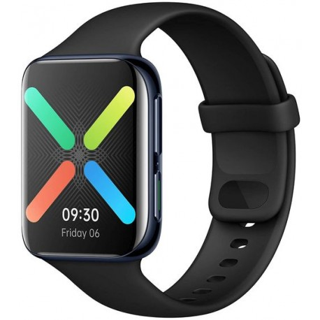 "Smartwatch OPPO Watch, AMOLED Flexible Dual-Curved 1.91"", Bluetooth, Wi-Fi, Bratara Silicon 46mm, Carcasa Aluminiu, Rezistent la"