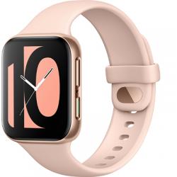 "Smartwatch OPPO Watch, AMOLED 1.6"", Bluetooth, Wi-Fi, Bratara Silicon 41mm, Carcasa Aluminiu, Auriu/Roz"