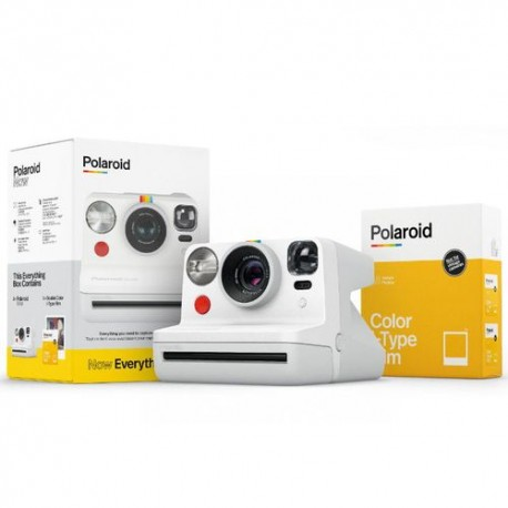 Aparat Foto Compact Instant Polaroid Now Everything Box, baterie 750mAh, Blitz integrat, Alb