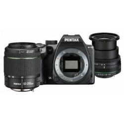 Aparat Foto D-SLR Pentax K-70 + DAL 18-50mm/50-200 WR, 24MP CMOS (Negru)