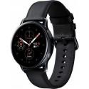 Smartwatch Samsung Galaxy Watch Active 2 SM-R830, Procesor Dual-Core 1.15GHz, Super AMOLED 1.2inch, 768MB RAM, 4GB Flash, Bluetooth, Wi-Fi, Carcasa Otel, Bratara Piele 40mm, Rezistent la apa si praf, Tizen (Negru)
