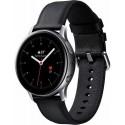 Smartwatch Samsung Galaxy Watch Active 2 SM-R830, Procesor Dual-Core 1.15GHz, Super AMOLED 1.2inch, 768MB RAM, 4GB Flash, Bluetooth, Wi-Fi, Carcasa Otel, Bratara Piele 40mm, Rezistent la apa si praf, Tizen (Argintiu/Negru)