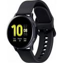 Smartwatch Samsung Galaxy Watch Active 2 SM-R830, Procesor Dual-Core 1.15GHz, Super AMOLED 1.2inch, 768MB RAM, 4GB Flash, Bluetooth, Wi-Fi, Carcasa Aluminiu, Bratara Cauciuc 40mm, Rezistent la apa si praf, Tizen (Negru)