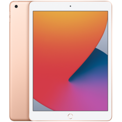 Tableta Apple iPad 8 (2020), Procesor Hexa-Core, Retina IPS LCD Capacitive touchscreen 10.2inch, 128GB Flash, 3GB, 8MP, Wi-Fi, Bluetooth, iOS (Auriu)