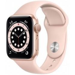 Smartwatch Apple Watch S6, Retina LTPO OLED 1.57inch, Bratara Silicon 40mm, Carcasa Aluminiu, Rezistent la apa, Roz