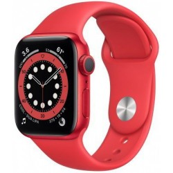 "Smartwatch Apple Watch S6, Retina 1.78"", Bratara Silicon 44mm, Carcasa Aluminiu, Rezistent la apa, Rosu"