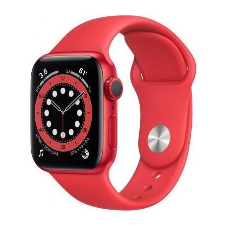 "Smartwatch Apple Watch S6, Retina 1.78"", Bratara Silicon 44mm, Carcasa Aluminiu, Rezistent la apa, Rosu"